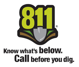 Know what's below. Call before you dig. Call 811.